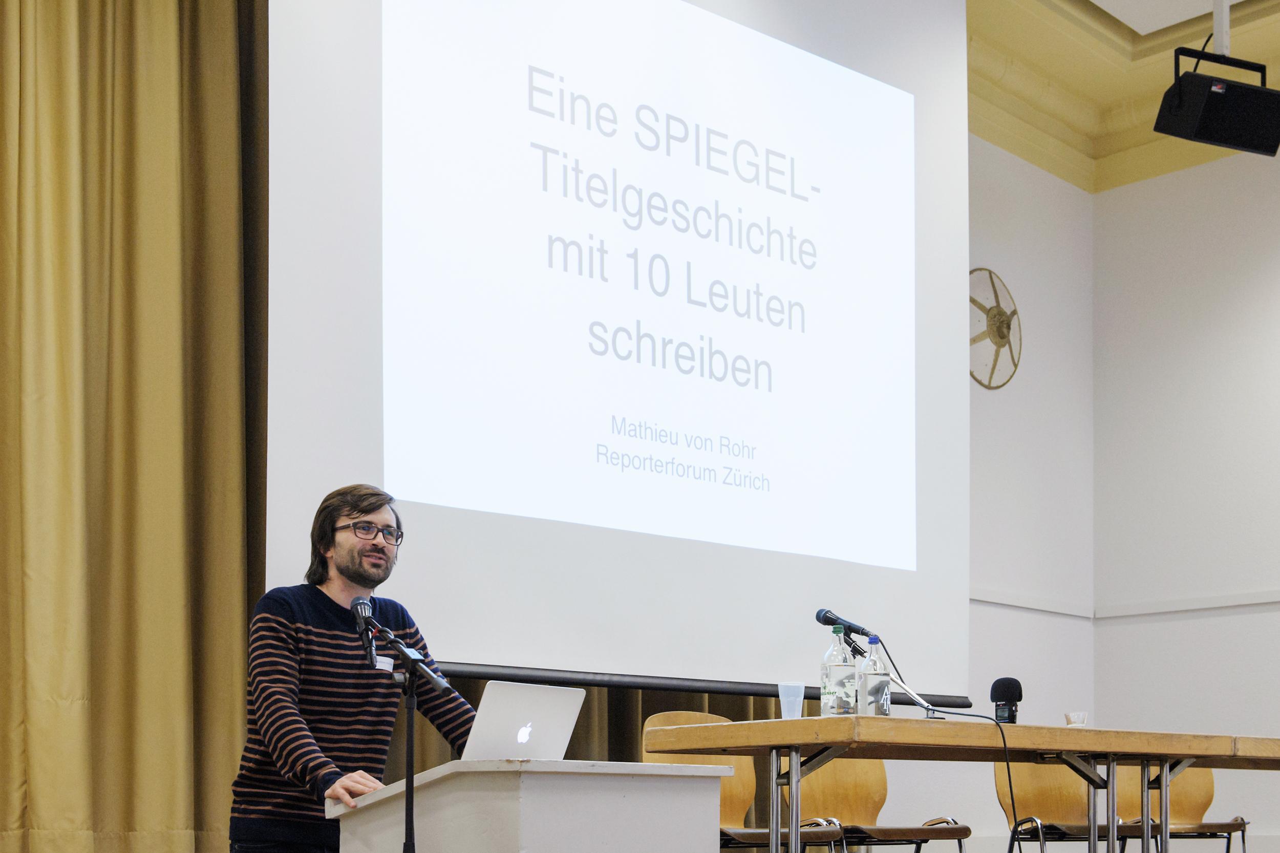 REPORTER-FORUM SCHWEIZ IN ZUERICH