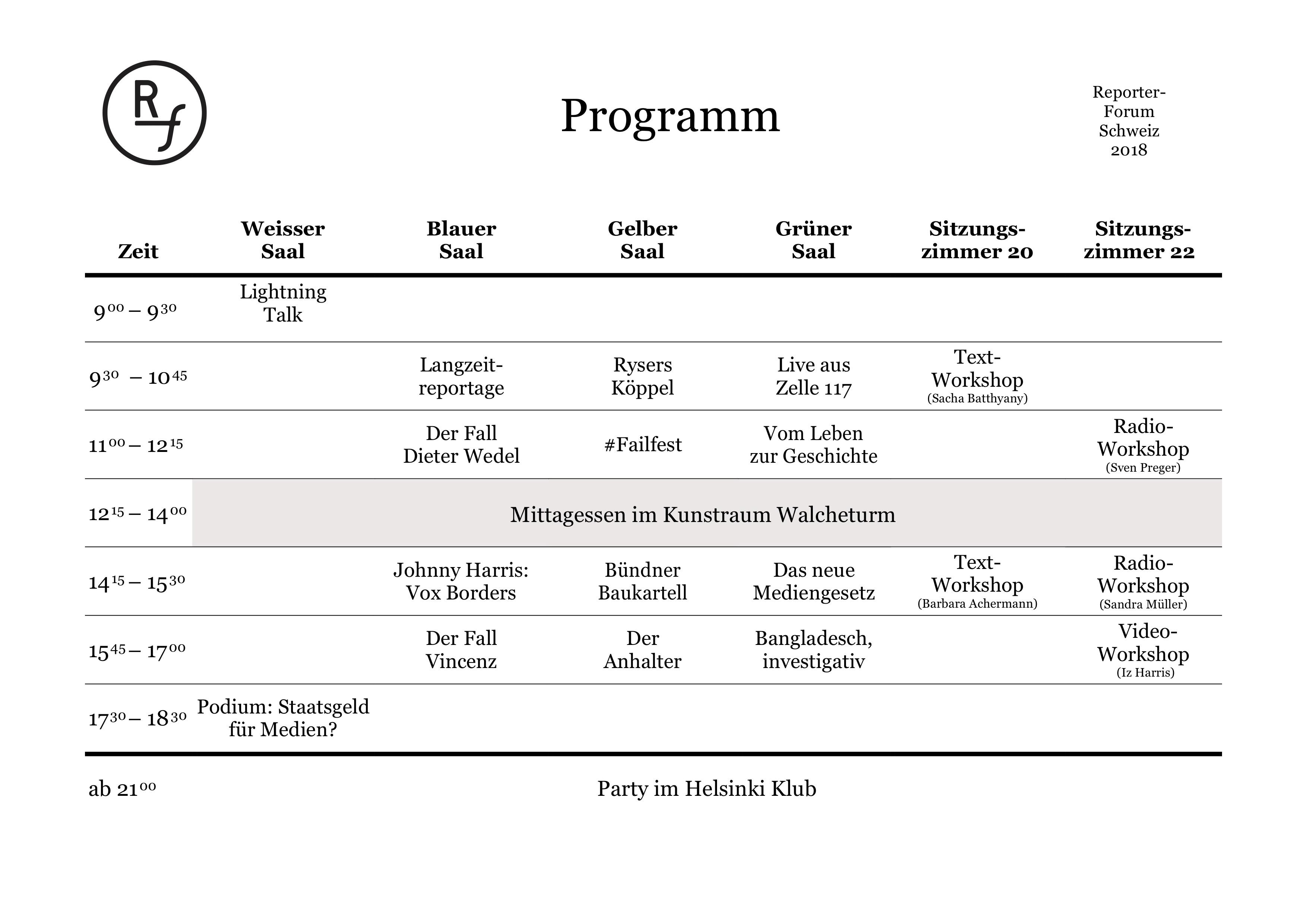RFCH2018-Programm